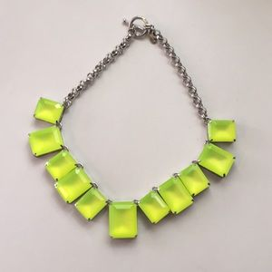 Chartreuse Ann Taylor necklace
